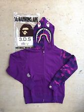 BAPE Purple Color Camo Shark Full-Zip Hoodie *Size M* 100% AUTHENTIC