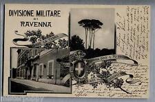 Divisione Militare di Ravenna WWI PC Viaggiata 1909 Art Nouveau