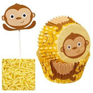 Monkey Cupcake Decorating Kit Wilton 2198 NEW