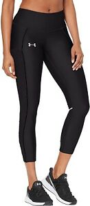 Under Armour Fly Fast Raised Thread Womens Cropped Running Tights - Black