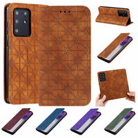 For Samsung Galaxy A71 5G Pattern Magnetic Flip Wallet Leather Stand Case Cover
