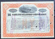 GARLAND STEAMSHIP CORPORATION Stock 1929. New York. Atlantic Ocean Steamers