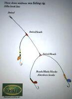 4 x No 1/0 three hook down wishbone rig  Dab,Sole Plaice,Turbot