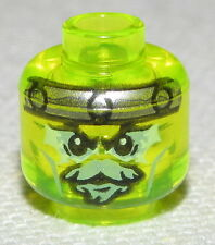 LEGO NEW TRANPARENT NEON GREEN MONSTER ALIEN GHOST MINIFIGURE HEAD PART