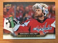 UPPER DECK 2015-2016 SERIES TWO CANVAS BRADEN HOLTBY HOCKEY CARD C-206