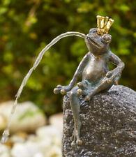 Bronzefigur Wasserspeier Froschkönig Martin 18cm Rottenecker Bronze Frosch