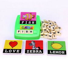 English Spelling Alphabet Letter Game Early Learning Educational Toy Kids Gift S