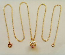 9ct Gold CZ Pendant Complete With A Chain