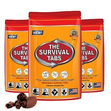 Survival Tabs 1 day  rations 12 tabs  Chocolate flavor . FREE SHIPPING!!