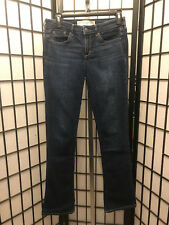 Women's Abercrombie & Fitch Skinny Boot Jeans Size 2R Dark Wash B19