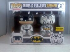 Funko Pop Heroes Zebra & Bulleye Batman 2 Pack Hot Topic Exclusive