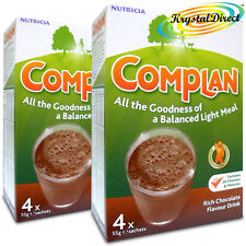 2x Complan Chocolate Nutrition Vitamin Protein Supplement Energy Drink 4x55g