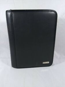 """Franklin Covey Classic 1.5""""- 7 Ring Binder Planner 10""""x8"""" Black - Faux Leather"""