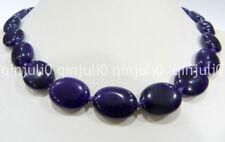 "100% genuine 13x18mm Naturel Gemme Améthyste Ovale Perles Collier 18"""