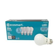 EcoSmart  60W Equivalent Daylight A19 Energy Star and Dimmable LED Light Bulb (4