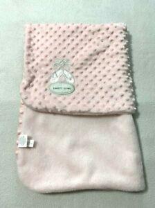 Blankets & Beyond Pink Ballerina Ballet Sippers Raised Bump Dot Baby Blanket