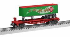 "LIONEL 6-83313 REINDEER EXPRESS AGENCY FLATCAR WITH TRAILER ""NEW"""