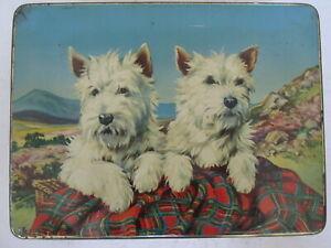 1950s Burtons West Highland White Biscuit Tin