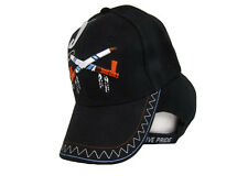 Native Pride Indian American Smoke Peace Pipe Shadow Black Embroidered Cap (RAM)