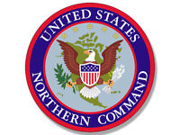 """4"""" united states northern command seal bumper sticker decal usa made"""