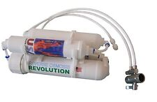 4-stage Portable Countertop RO Reverse Osmosis Aquarium System with DI, 75 GPD