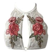 Women Ladies Floral Crop Tops Lace Bralette Bras Unpadded Bustier Vest Tank Top