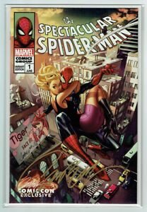 THE SPECTACULAR SPIDER-MAN #1 J SCOTT CAMPBELL SIGNED D EXCLUSIVE MARVEL NM