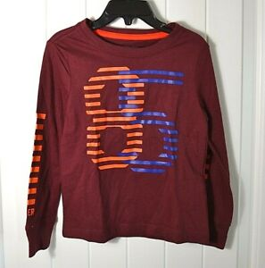 NEW BOYS TOMMY HILFIGER RED LONG SLEEVE CASUAL LOGO 85 CREW NECK SHIRT SZ XS
