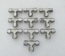"""Lot of 10:  Swagelok  1/2""""  Stainless Steel Fitting Tee Tees  SS-810-3   New"""