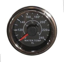 "Temp Gauge for water, 2""/52mm, 100-240F, black/chrome, white LED, 001-T-BC"
