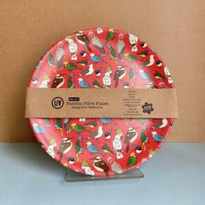 UA Australiana Bamboo Fibre Plates Set Of 4 Birdlife