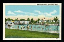 Michigan MI postcard Midland, Municipal Swimming Pool linen Curt Teich
