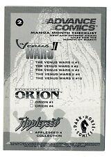 Advance Comics 1992 Checklist Promo Card #2 The Venus Wars II