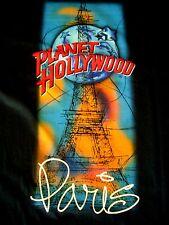 Planet Hollywood Paris Blue tee shirt size L Eiffel Tower NEW NEUF