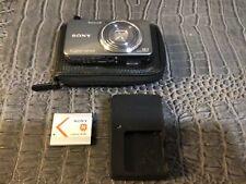Sony Cyber-shot DSC-W570 16.1MP Digital Camera - Silver with camera case.