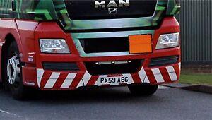 TAMIYA 1/14 MAN sticker WHITE REFLECTIVE STRIPES CHEVRONS for bumper