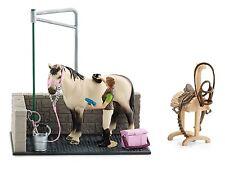 Schleich Horse Club 42104 Pferde Waschplatz mit Pferd & Reiterin
