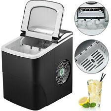 26 lbS Black LCD Screen Ice Cube Maker Automatice Machine 2.2L Water Tank