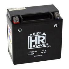 HR Bike Power 12V 14Ah GEL Motorradbatterie YTX14-BS 51214 GEL12-14-BS CTX14-BS