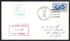 British Royal Navy Destroyer HMS DUCHESS Naval Review 1957 Naval Cover