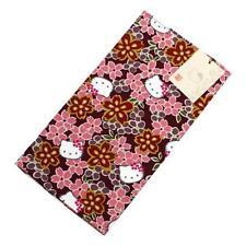 New Hello Kitty Sakura Cherry Blossoms Small Furoshiki Wrapping Cloth Dark red