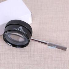 35X 38mm Magnifying Glass Pocket Portable Magnifier Fresnel Lens Metal Frame