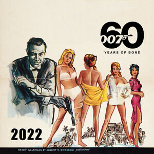007 JAMES BOND 2022 OFFICIAL CALENDAR (60 YEARS OF BOND) *FAST UK DISPATCH*