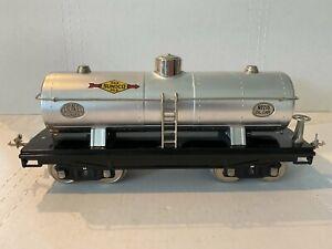 1930 LIONEL PREWAR TRAINS -SUNOCO 3-DOME OIL TANK CAR NO. 215- STANDARD GAUGE EX