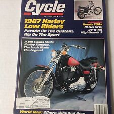 Cycle Magazine 1987 Harley Low Riders Honda 700s October 1986 061717nonrh2
