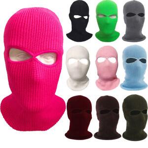 2 Hole Full Face Mask Ski Mask Winter Cap Balaclava Hood Beanie Tactical Hat AU