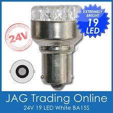 24V 19-LED BA15S 1156 WHITE AUTOMOTIVE GLOBE-Truck/Trailer/Caravan/RV Light Bulb