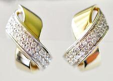 DIAMOND EARRINGS 60pts GENUINE VS DIAMONDS 9K GOLD HUGGIES VALUATION $4680 NEW