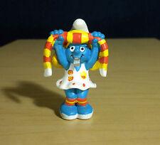 Smurfette Soccer Team Fan Smurf Figure Vintage Smurfs Toy PVC Figurine 20531