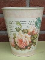 Macetero Rosas , crema, metalltöpfe, florero, Maceta de orquídea, 2 Tamaños